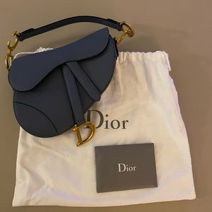 100% Authentic Dior Mini Saddle Bag